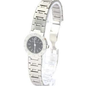 Bvlgari Black Stainless Steel Tubogas BB23SS Quartz Women's Wristwatch 22 MM