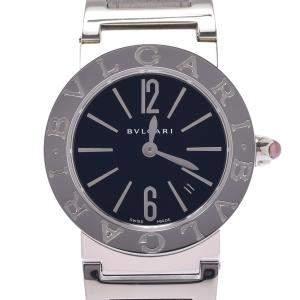 Bvlgari Black Stainless Steel Bvlgari BB26BSSD Quartz Women's Wristwatch 26 MM