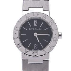 Bvlgari Black Stainless Steel BB23SS Quartz Women's Wristwatch 23 MM