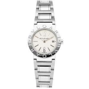 Bvlgari White Stainless Steel BB26SSD/N Women's Wristwatch 26 MM