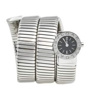 Bvlgari Black Stainless Steel Serpenti Tubogas BB 19 1TS Women's Wristwatch 19 mm