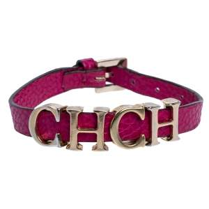 Carolina Herrera Pink Leather Petite Carolina Bracelet