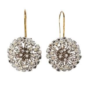 Carolina Herrera Crystal Dandelion Drop Hook Earrings