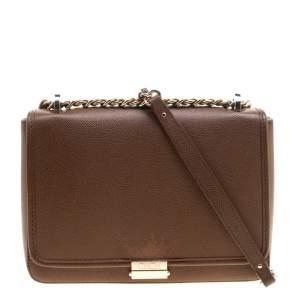 Carolina Herrera Brown Leather Shoulder Bag