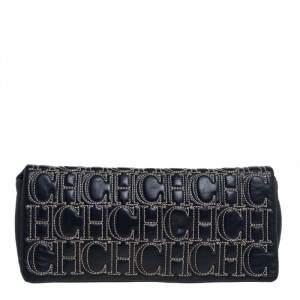 Carolina Herrera Dark Blue Leather Jerry Clutch