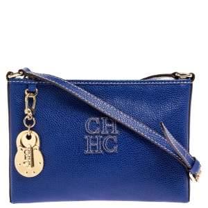 Carolina Herrera Blue Leather Crossbody Bag