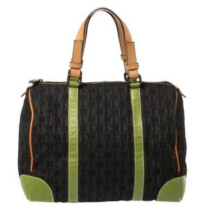 Carolina Herrera Multicolor Signature Canvas and Leather Andy Boston Bag