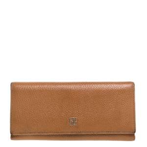 Carolina Herrera Tan Leather Continental Wallet