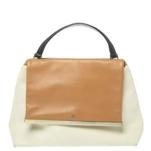 Carolina Herrera Tri Color Leather Top Handle Bag
