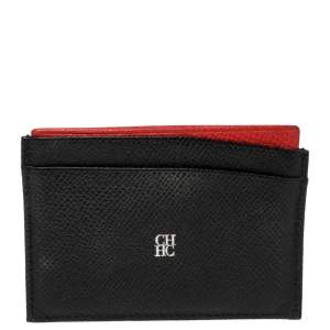 Carolina Herrera Black/Red Leather Card Holder