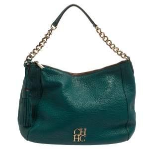 حقيبة هوبو كارولينا هيريرا سحاب جلد أخضر