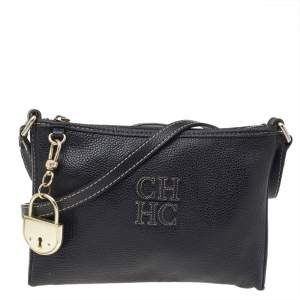 Carolina Herrera Black Leather Crossbody Bag