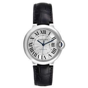 Cartier Silver Stainless Steel Ballon Bleu Automatic W69017Z4 Women's Wristwatch 36 MM