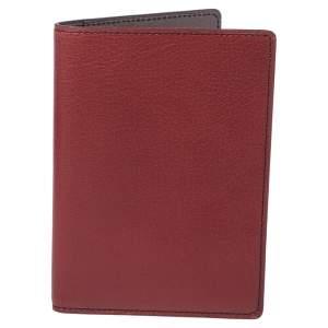 محفظة جواز سفر كارتييه جلد أحمر