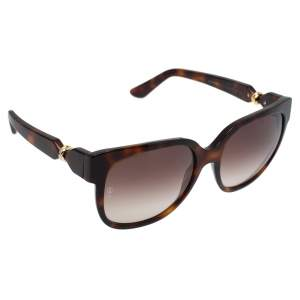 Cartier Tortoiseshell / Brown Gradient Trinity De Cartier Square Sunglasses
