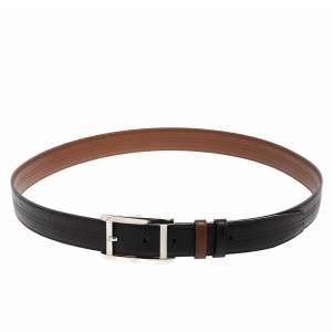 Cartier Dark Brown Leather Buckle Belt 120 CM