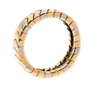 خاتم كارتييه حلقه متعرج ذهب ثلاثي اللون عيار 18 مقاس 51