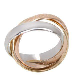 Cartier 18K Three Tone Gold Le Must De Trinity Ring Size 49