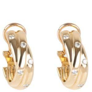 Cartier Constellation 18K Yellow Gold Diamond Earrings