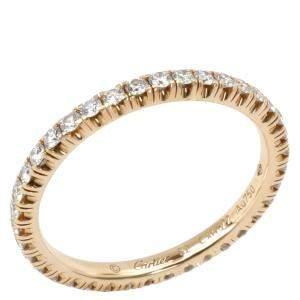 Cartier Étincelle De Cartier 0.38 CTW Diamond 18K Yellow Gold Wedding Band Ring Size 51