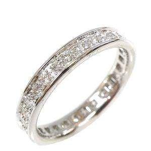 Cartier Ballerine Wedding 18K White Gold Diamond Ring Size 50