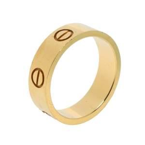 """خاتم كارتييه """"لوف""""حلقة ذهب أصفر عيار 18 مقاس 54"""