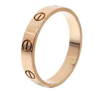 Cartier Love 18K Rose Gold Wedding Band Ring Size 57