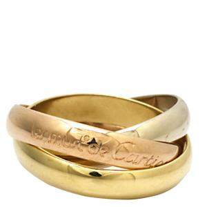 Cartier Les Must de Cartier Trinity 18K Yellow Gold,18K White Gold 18K Rose Gold Ring Size 49