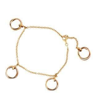 Cartier Trinity Charm Link 18K Yellow Gold, 18K White Gold, 18K Rose Gold Bracelet