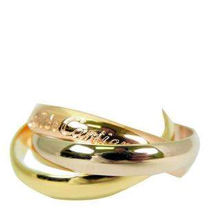 Cartier Les Must de Cartier Trinity 18K Yellow Gold,18K White Gold 18K Rose Gold Ring Size 50