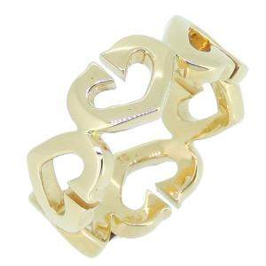 Cartier Symbol Hearts 18K Yellow Gold Ring Size 50