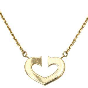 Cartier C de Cartier 18K Yellow Gold Pendant Necklace