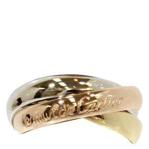 Cartier Les Must de Cartier Trinity 18K Yellow Gold 18K Rose Gold 18K White Gold Ring Size 50
