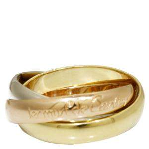Cartier Les Must de Cartier Trinity 18K Yellow Gold 18K Rose Gold 18K White Gold Ring Size 49
