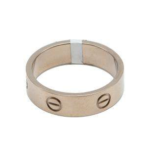 Cartier Love White Gold Ring Size 62