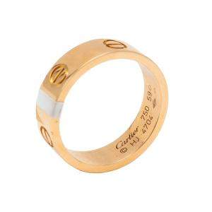 Cartier Love Rose Gold Ring Size 59