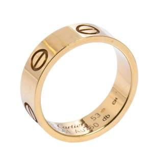Cartier LOVE 18K Yellow Gold Band Ring 53