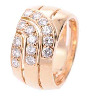 Cartier 18K Yellow Gold Diamond Ring Size 52