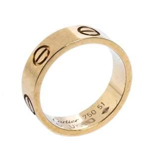 """خاتم كارتييه """"لوف""""حلقة ذهب أصفر عيار 18 مقاس 51"""