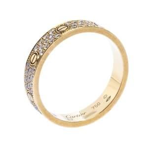 """خاتم زفاف كارتييه """"لوف"""" حلقة ذهب أصفر عيار 18 و ألماس مصفوف"""