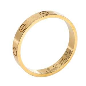خاتم زفاف كارتييه لوف ذهب أصفر عيار 18 مقاس 59
