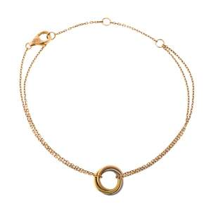 Cartier Trinity 18K Three Tone Gold Bracelet