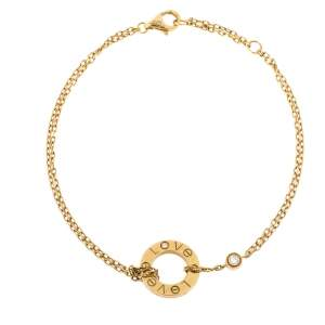 Cartier Love Diamond 18K Yellow Gold Chain Link Bracelet