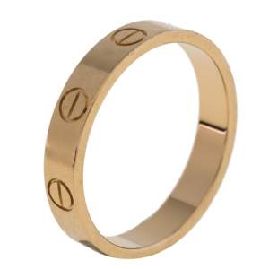 Cartier LOVE 18K Yellow Gold Narrow Wedding Band Ring Size 54
