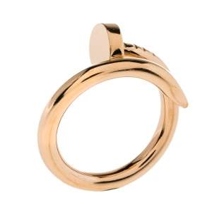 Cartier Juste Un Clou 18K Rose Gold Band Ring Size 50