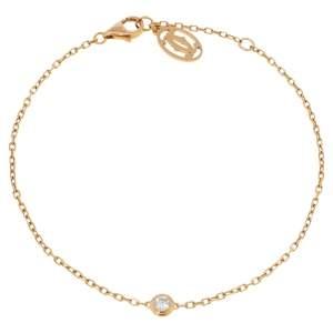 Cartier Diamants Legers De Cartier Diamond 18K Rose Gold Bracelet SM