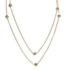 Cartier Trinity Station 18K Tri-Colored Gold Necklace