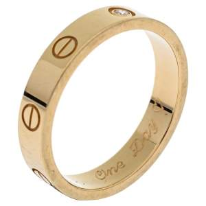 Cartier Love 1 Diamond 18K Yellow Gold Wedding Band Ring Size 57
