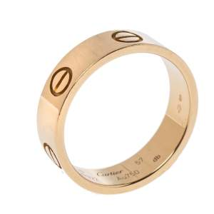 Cartier Love 18K Yellow Gold Band Ring Size 57