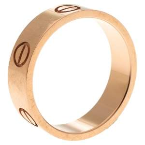 Cartier Love 18K Rose Gold Ring Size 56